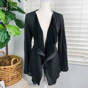 NWT GREY CHARCOAL COLOR OPEN KNIT CARDIGAN